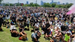 Huston Tillotson University , AUSTIN, TX - BLACK LIVES MATTER PROTEST 2020