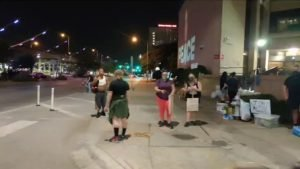 AUSTIN, TX - BLACK LIVES MATTER PROTEST - Discussions are happening with communi...