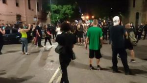 SHOTS FIRED AND CARS ON FIRE!  LIVE Austin Texas PROTESTS at Austin Police Depar...